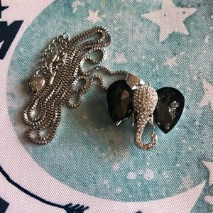 NEW✨ Betsey Johnson Elephant CZ Pendant Necklace